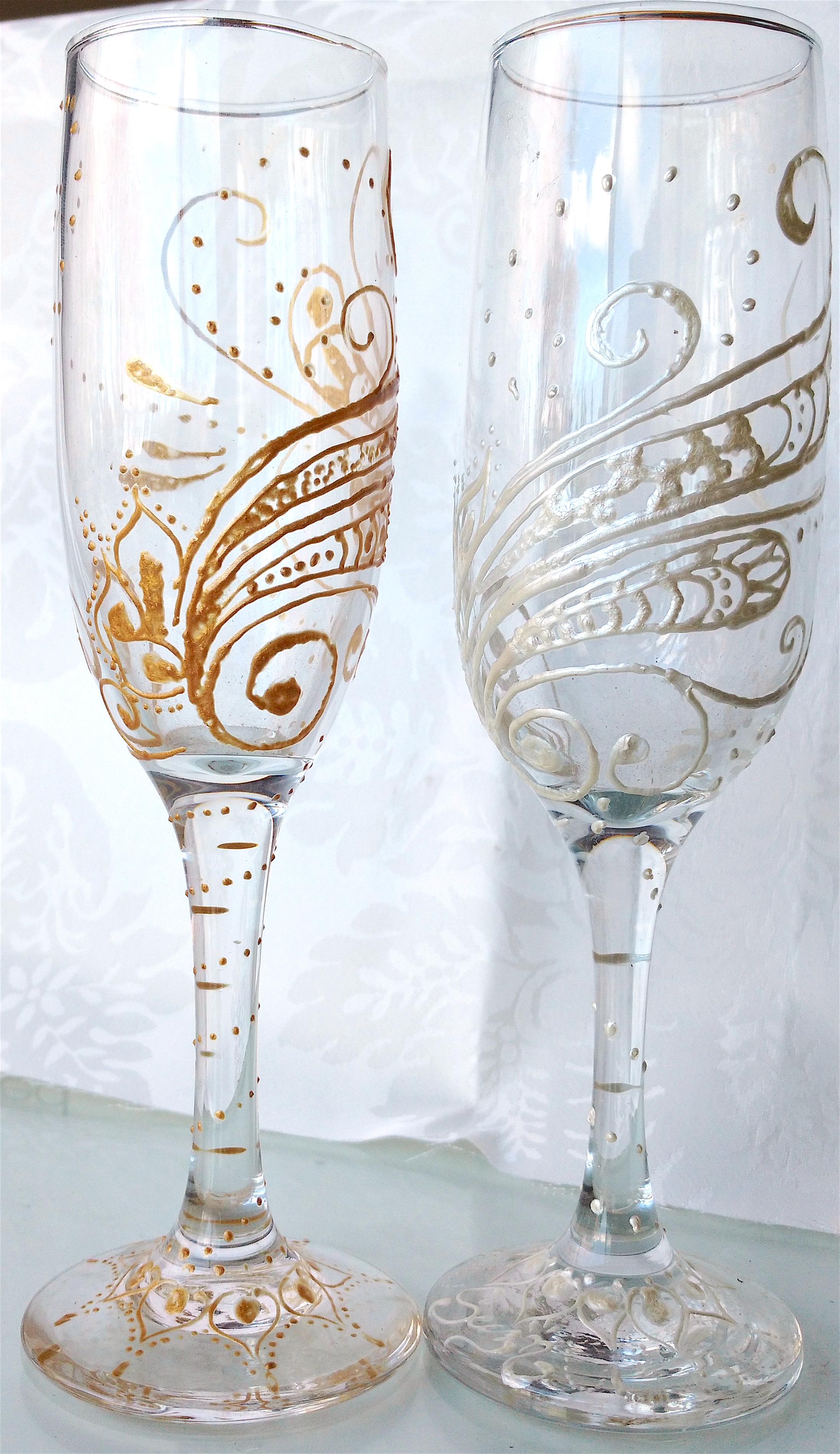 Wedding style champaigne glass
